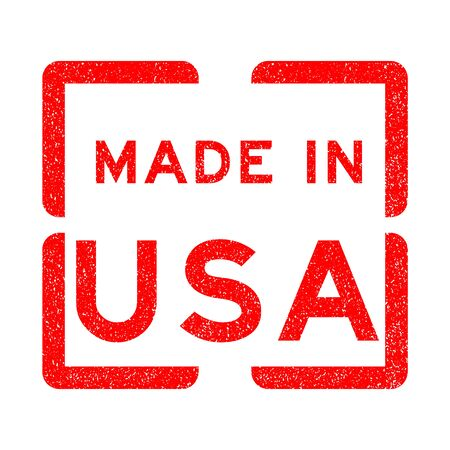 grunged: Grunged rubber stamp made in USA