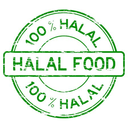 grunged: Green grunged 100 % HALAL FOOD