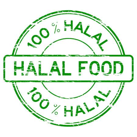 grunged: Green grunged 100 % HALAL FOOD