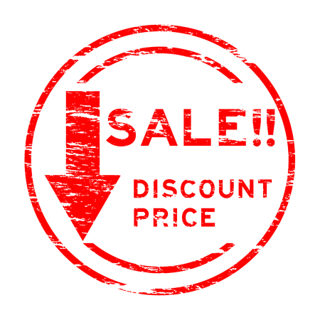 Red grunged sale discount price stamp