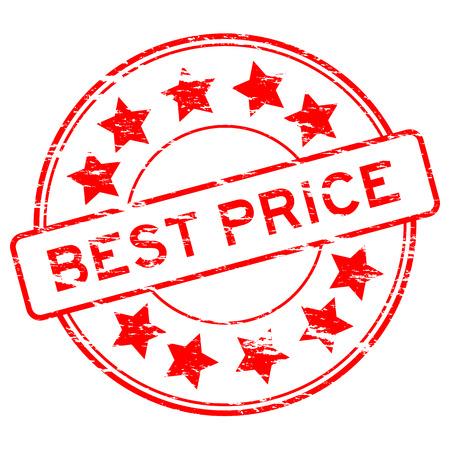 grunged: Red grunged best price stamp Illustration