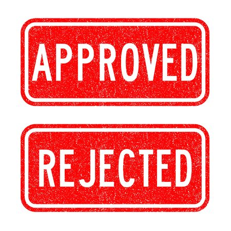 reject: Grunged approve, reject stamp set