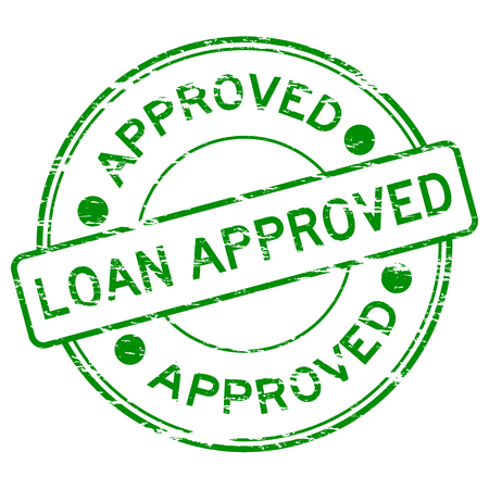 assure: Green grunged loan approve stamp