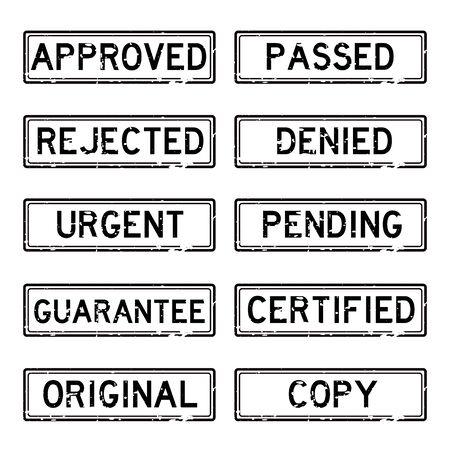 grunged: Grunged stamp set (black color)