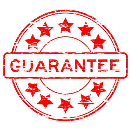 assure: Grunged guarantee stamp (Red) Illustration