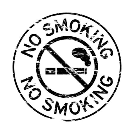 grunged: Grunged stamp of no smoking (Black)