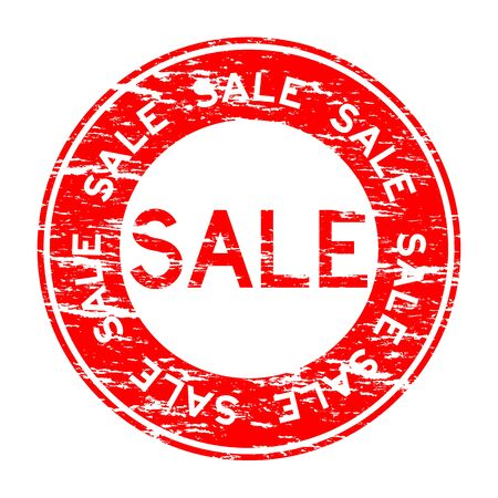 Grunged red sale stamp