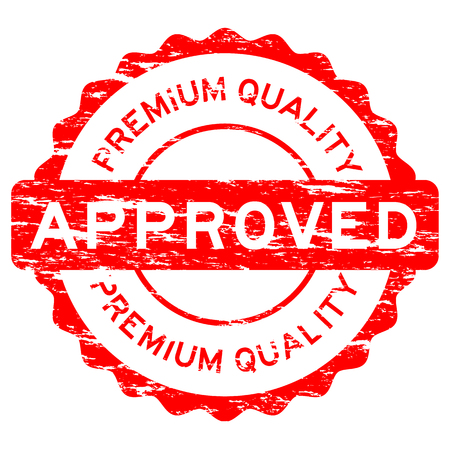 grunged: Grunged red approved premium quality stamp