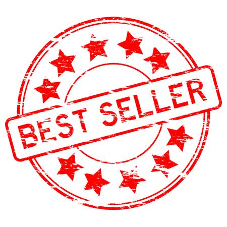 grunged: Grunged red best seller stamp Illustration