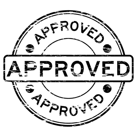 approve: Grunged approve stamp (Black) Illustration