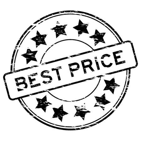Black grunged best price stamp Illustration