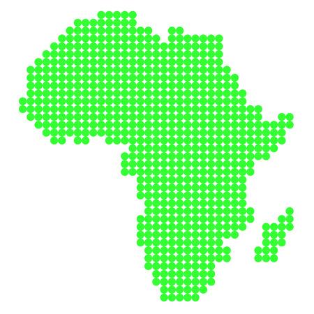 region: Dot map of Africa region Illustration