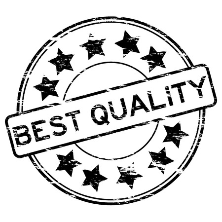 best quality: Black grunge best quality stamp