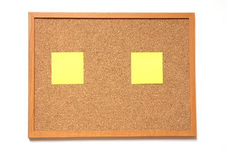 pinboard: Corkboard with paper placed on white background