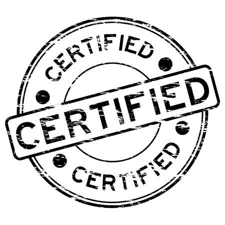 grunged: Grunged certified stamp (Black) Illustration