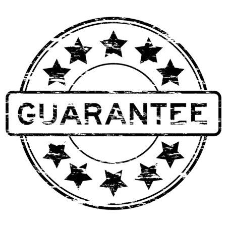 guarantee stamp: Grunged guarantee stamp (Black)