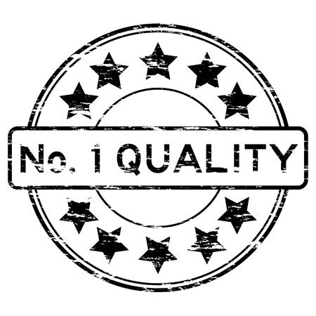no 1: Black No. 1 quality stamp