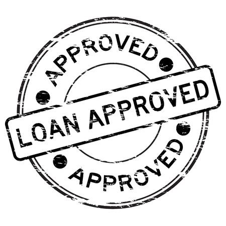 grunged: Blalck grunged loan approve stamp