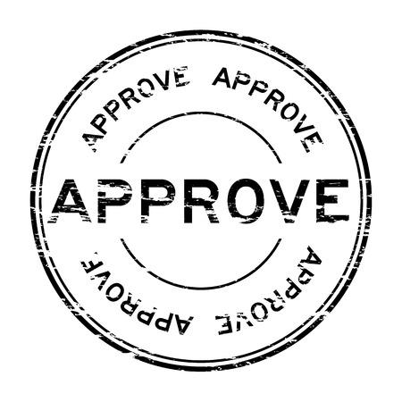 assure: Grunge black approve stamp