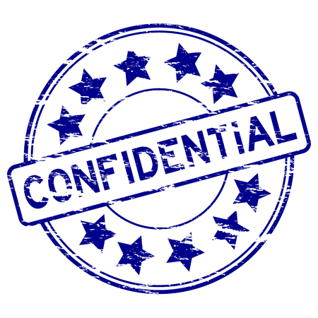 confidential: Blue grunged confidential stamp Illustration