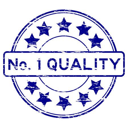 no 1: Blue No. 1 quality stamp