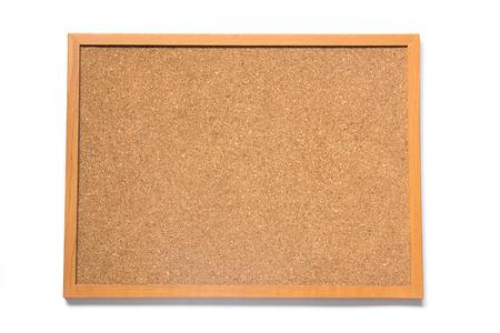 Corkboard posto su sfondo bianco Archivio Fotografico - 57529925