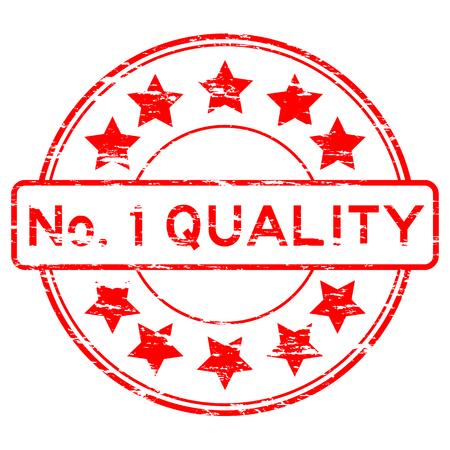 no 1: Red No. 1 quality stamp
