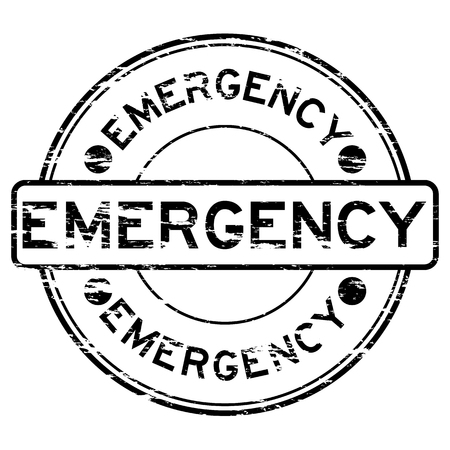 Black grunge emergency stamp