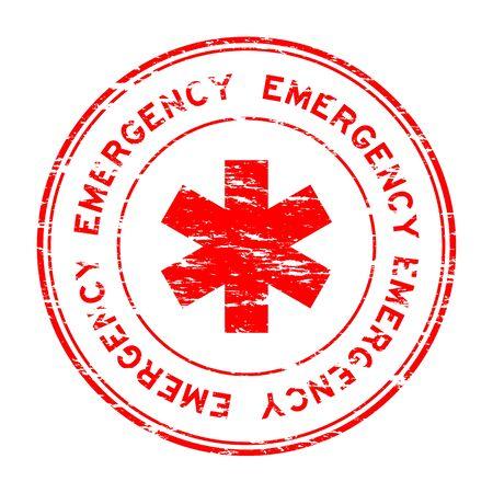 Red grunge emergency stamp
