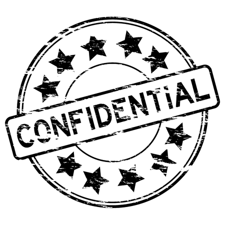 confidential: Black grunged confidential stamp