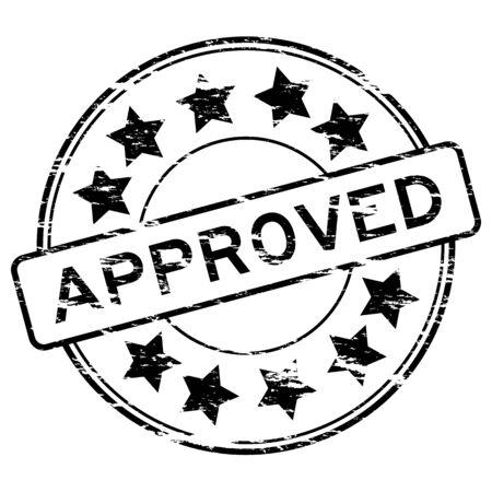 grunged: Grunged approve stamp (Black) Illustration
