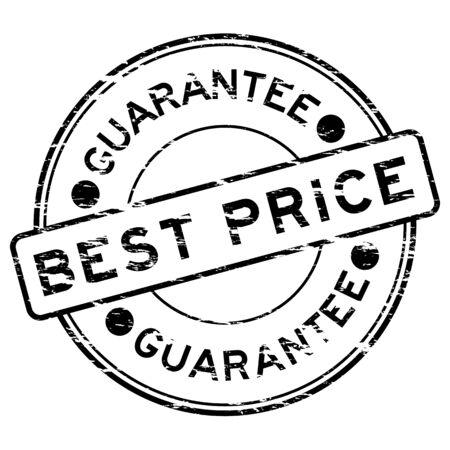 grunged: Black grunged best price stamp Illustration