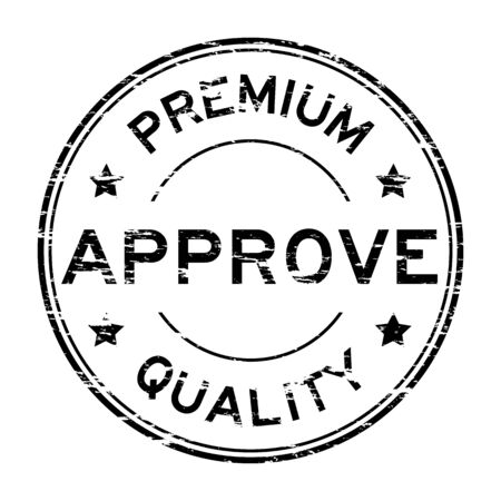 approve: Black grunge approve and premium quality stamp