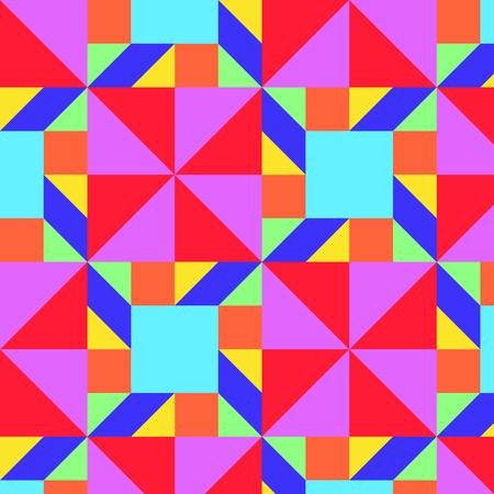 Geometric colorful pattern (Base by Tangram)(Vector) Vektoros illusztráció