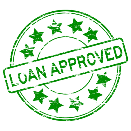 certified: Grunge green loan approve stamp