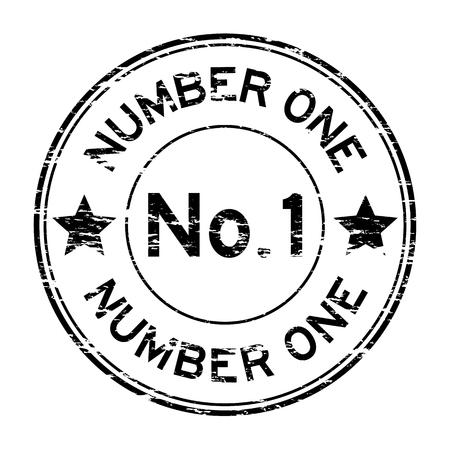 Grunge black number one stamp Иллюстрация