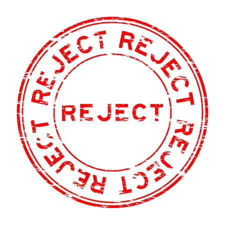 reject: Grunge round reject stamp on white background