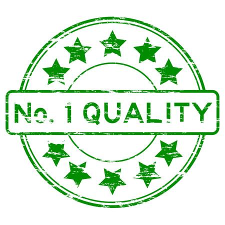 no 1: Green No. 1 quality stamp Illustration