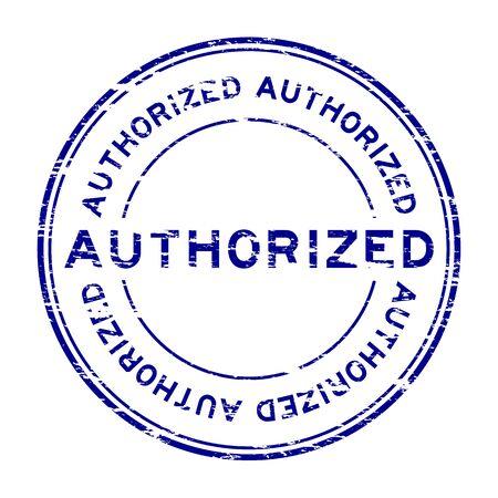 authorized: Grunge authorized rubber stamp Illustration