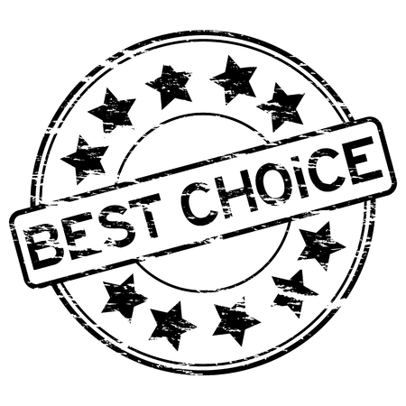 certified stamp: Black grunge best choice stamp