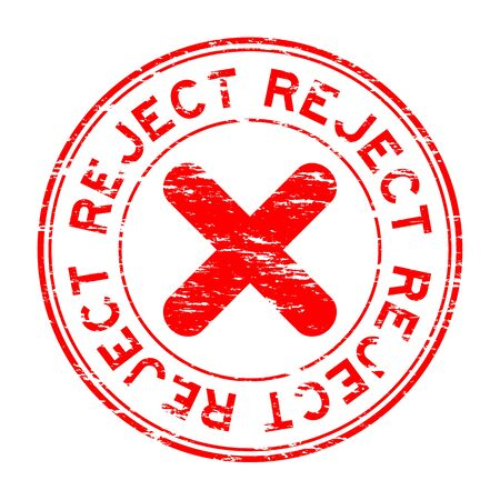 reject: Grunge round reject stamp Illustration