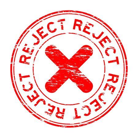 reject: Grunge round reject stamp Illustration