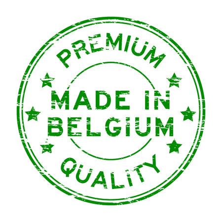 made in belgium: Grunge premium quality and made in Belgium stamp Illustration