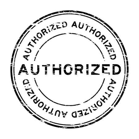 qualify: Grunge authorized rubber stamp Illustration