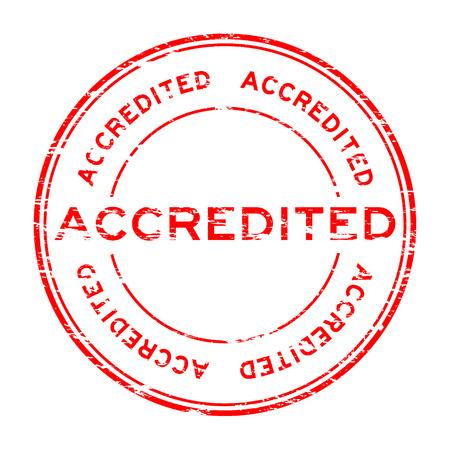 accreditation: Grunge round accredited stamp