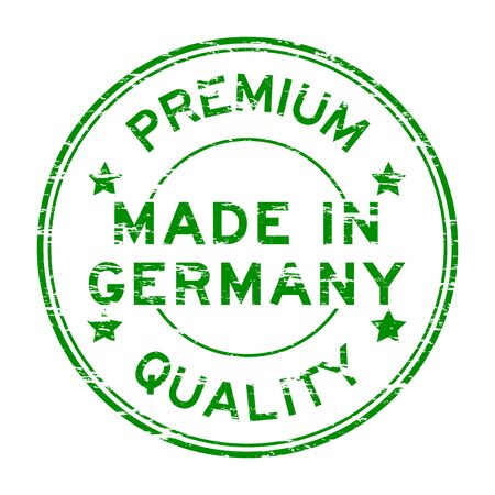 made in germany: Green made in Germany stamp Illustration