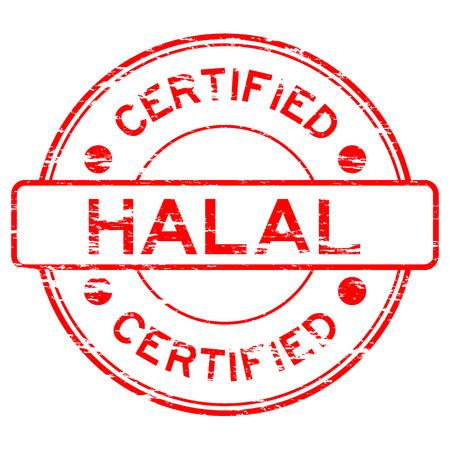 red grunge: Red grunge HALAL stamp