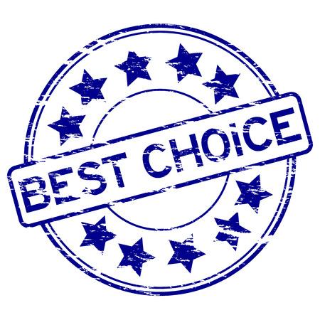 assure: Round grunge best choice stamp