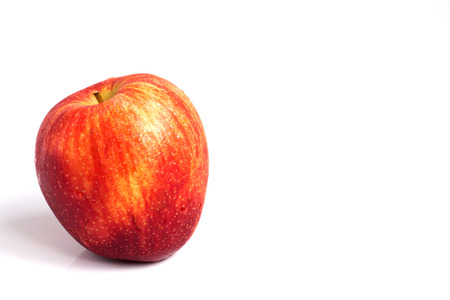 wizen: Sear skin and abrasion mark on red apple Stock Photo