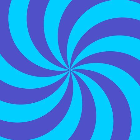 blue spiral: Retro blue and light blue spiral sunburst